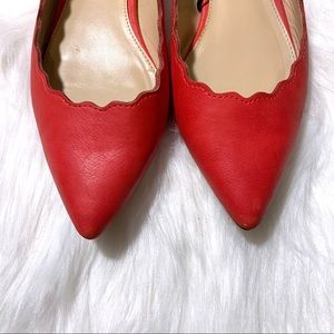 Red Scalloped Style Express Flats